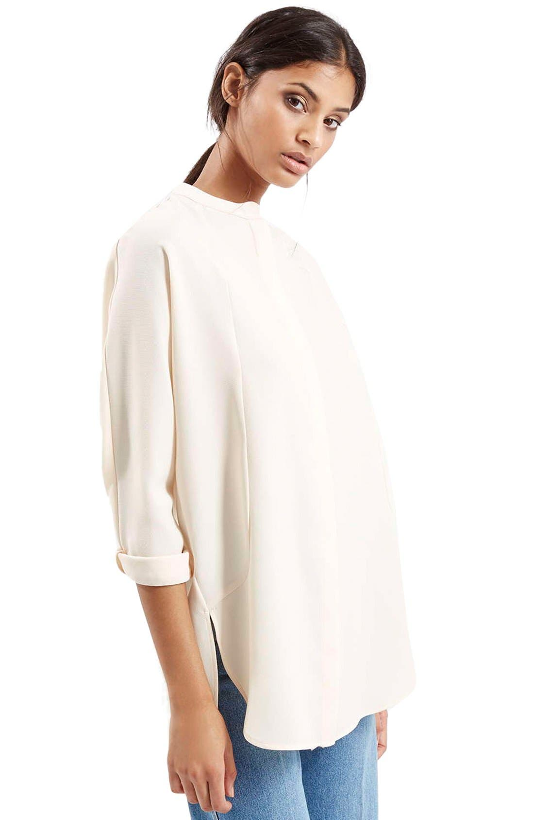 Alternate Image 1 Selected - Topshop Split Back High/Low Tunic Shirt