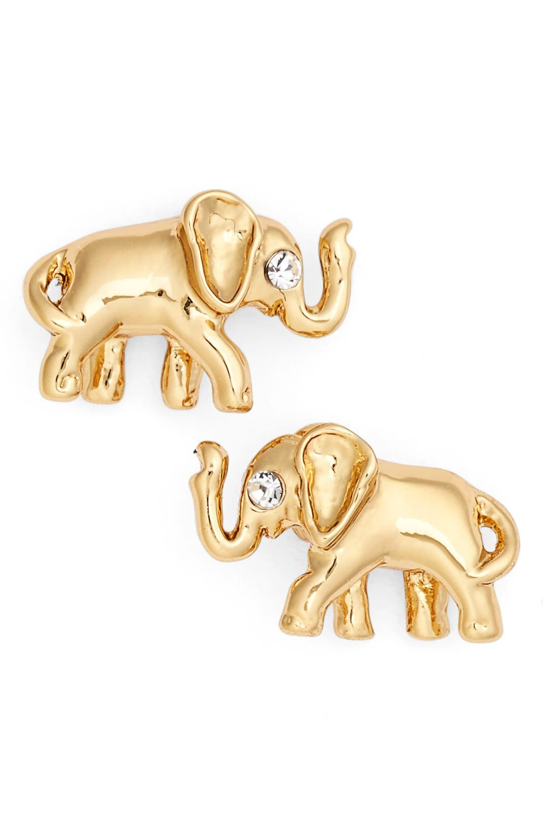 Alternate Image 1 Selected - kate spade new york elephant stud earrings