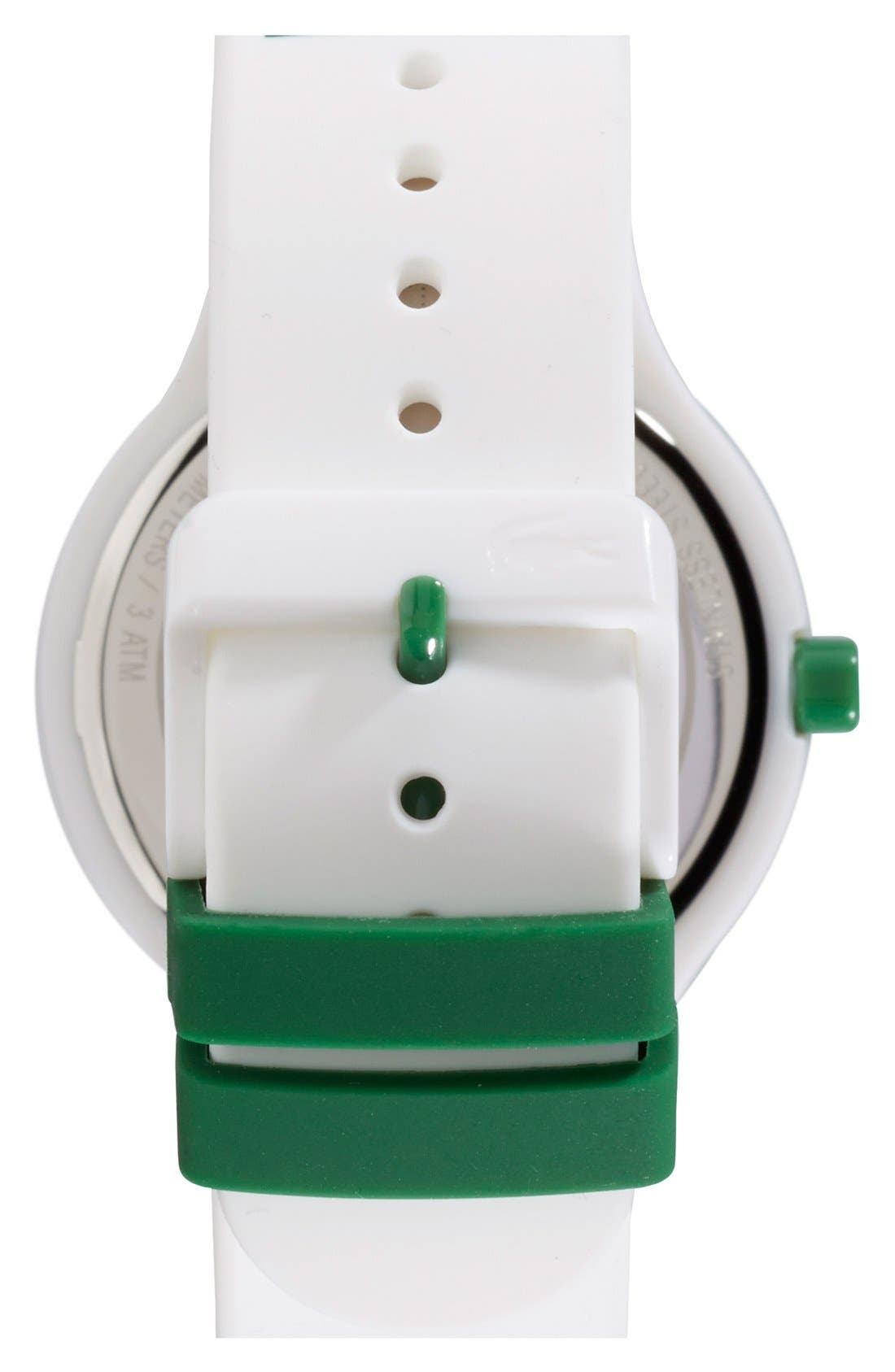 Alternate Image 2  - Lacoste 'Goa' Silicone Strap Watch, 40mm