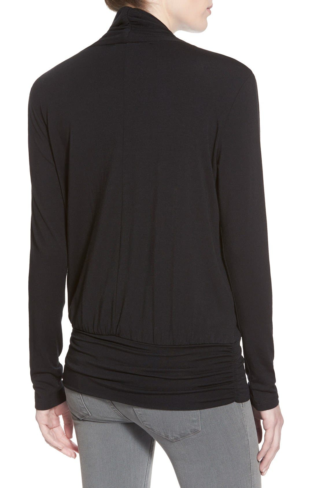 Alternate Image 2  - Amour Vert 'Angela' Long Sleeve Wrap Front Top