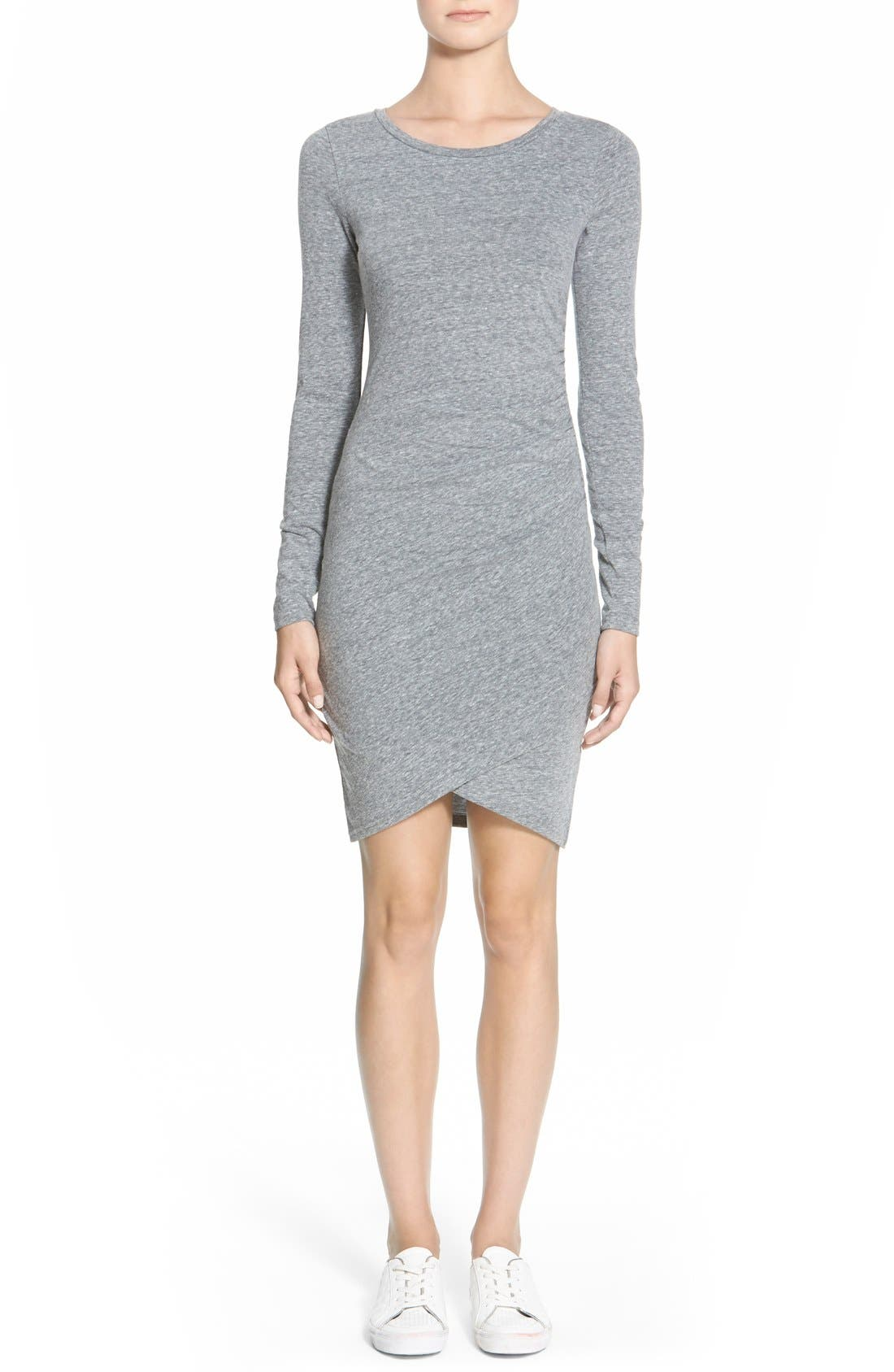 Leith Ruched Long Sleeve Dress (Nordstrom Online Exclusive)