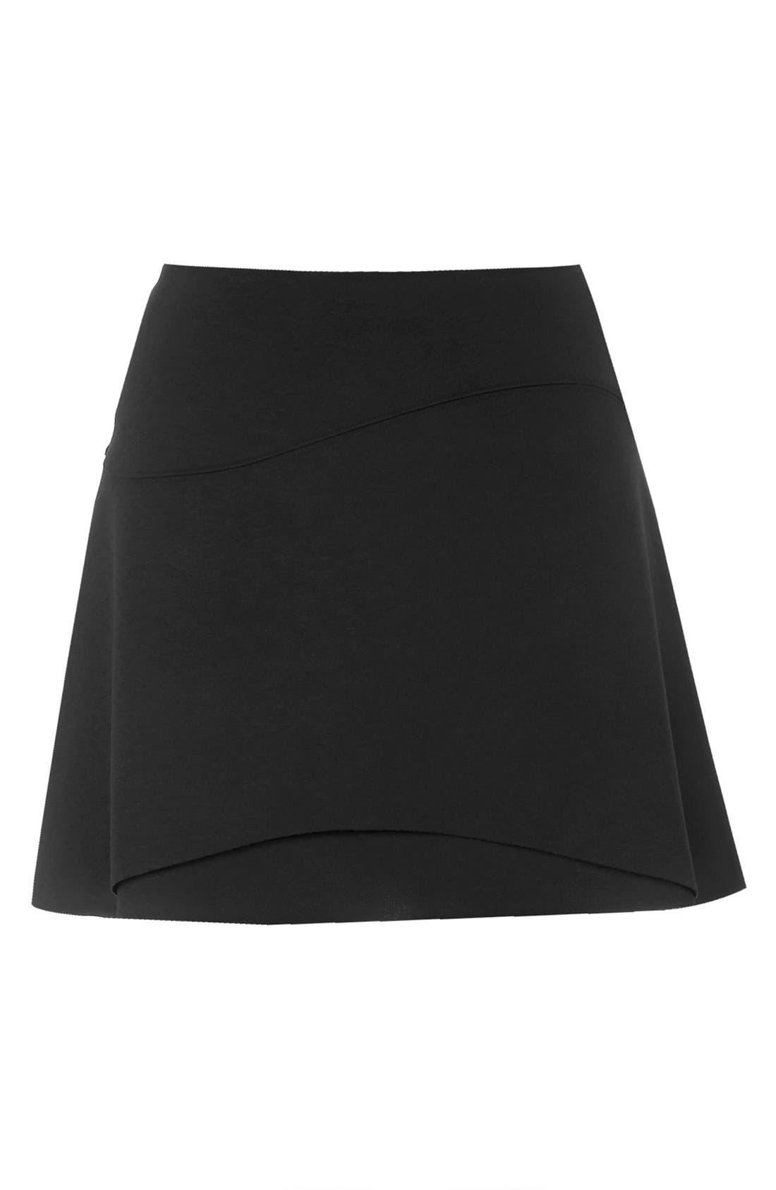 Alternate Image 4  - Topshop Curved Hem Skater Skirt