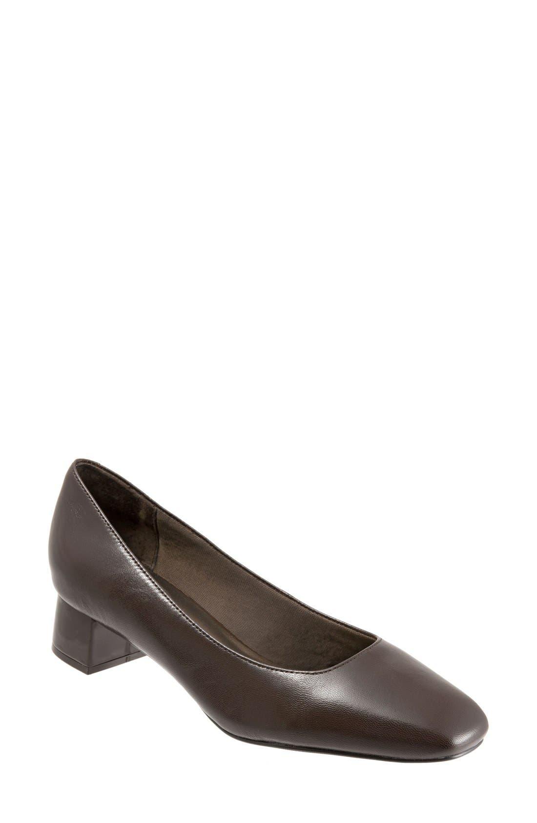 Lola Pump,                         Main,                         color, Dark Brown Leather