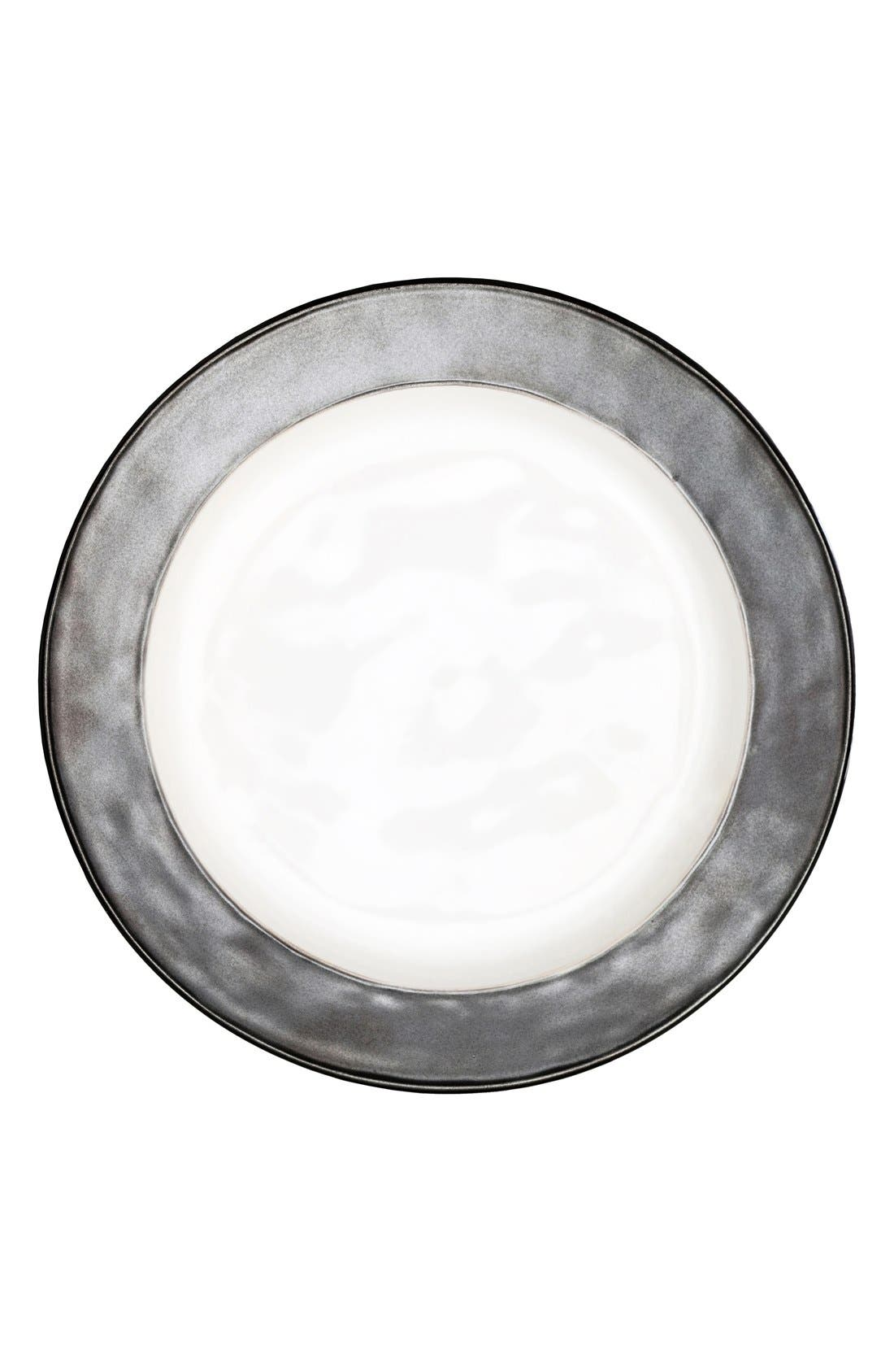 'Emerson' Dinner Plate,                         Main,                         color, Pewter/ White