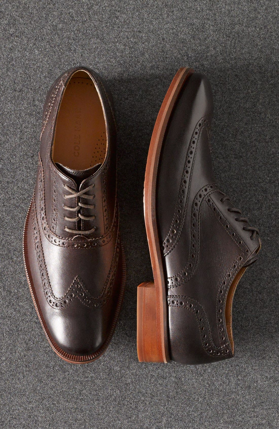 'Colton' Wingtip Oxford,                             Alternate thumbnail 5, color,