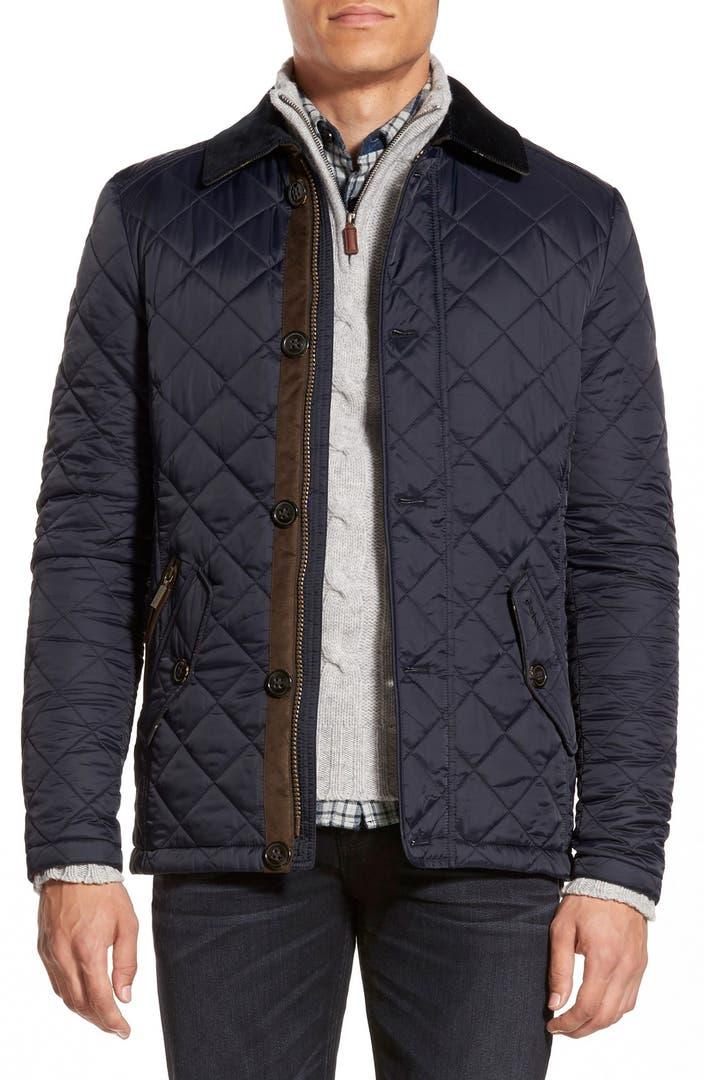 Barbour 39 fortnum 39 regular fit quilted jacket nordstrom for Quilted jackets for men