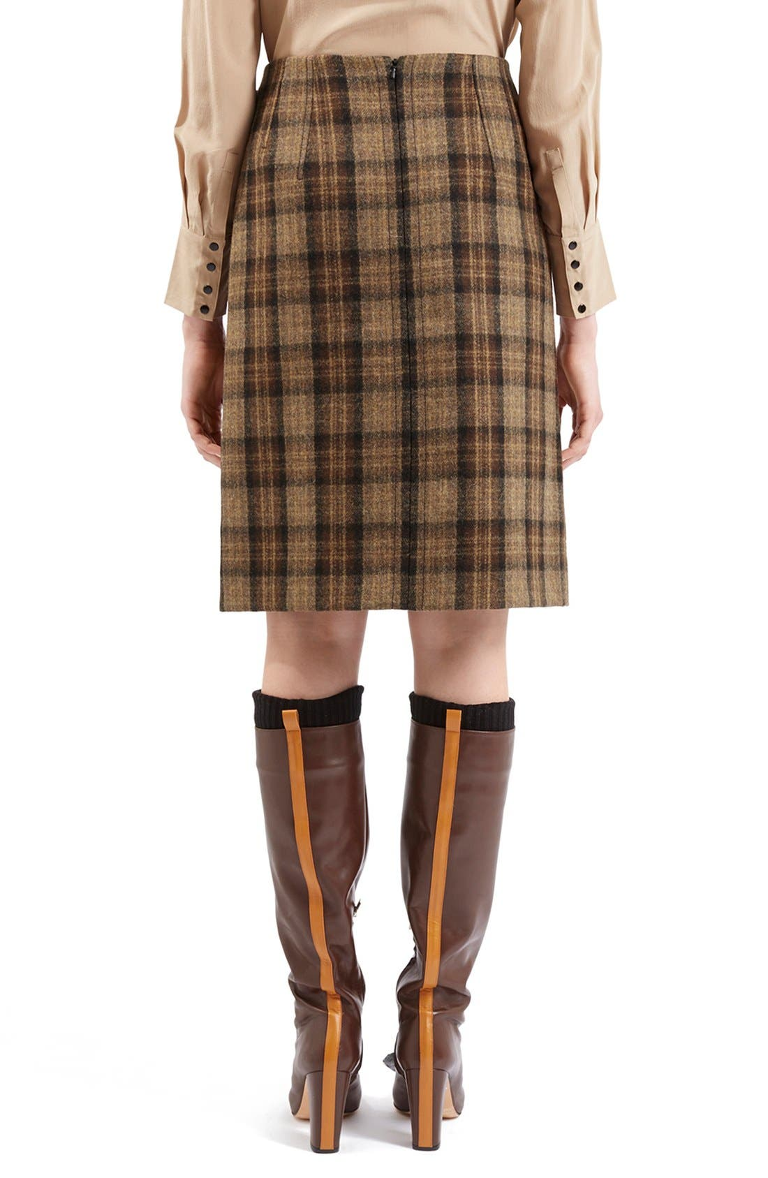 Alternate Image 4  - Topshop Unique 'Inverness' Plaid A-Line Skirt