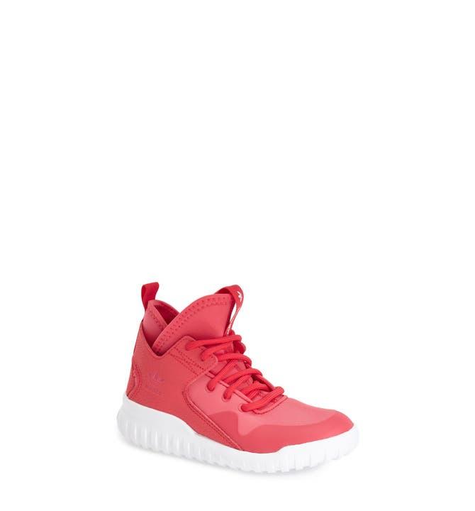 Adidas Tubular Invader Strap Light Pink Suede Juniors Womens Girls