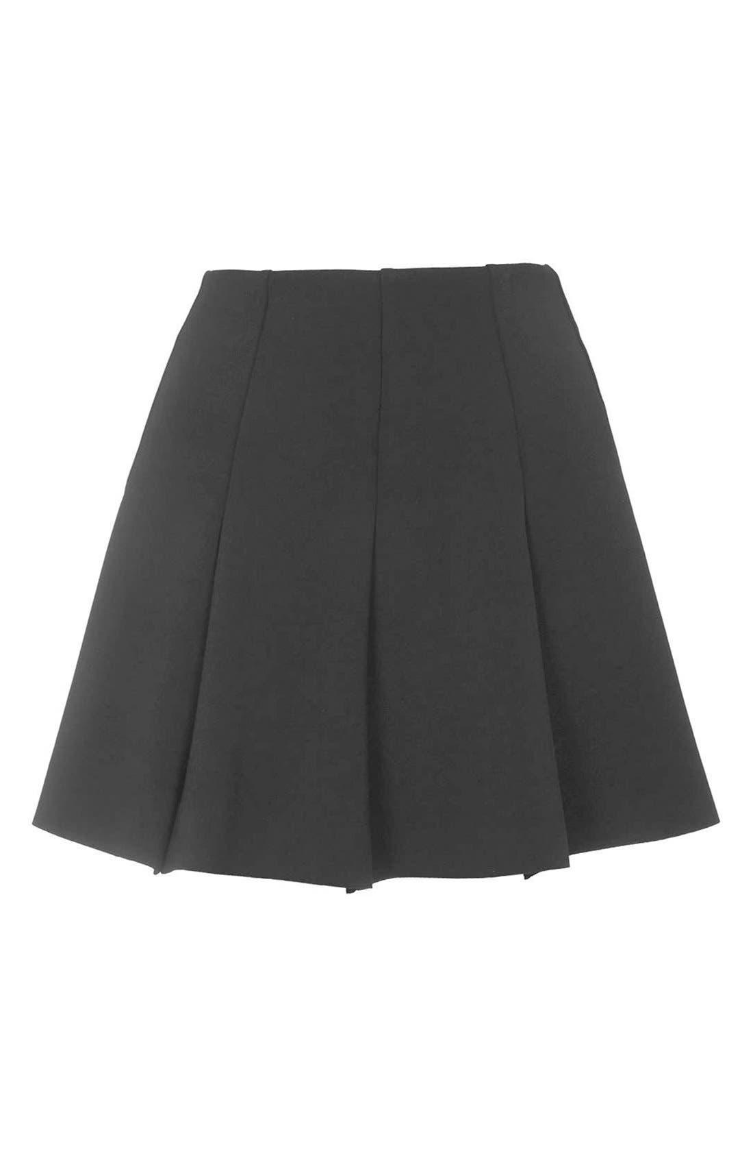 Alternate Image 4  - Topshop Flippy Pleated Miniskirt (Petite)