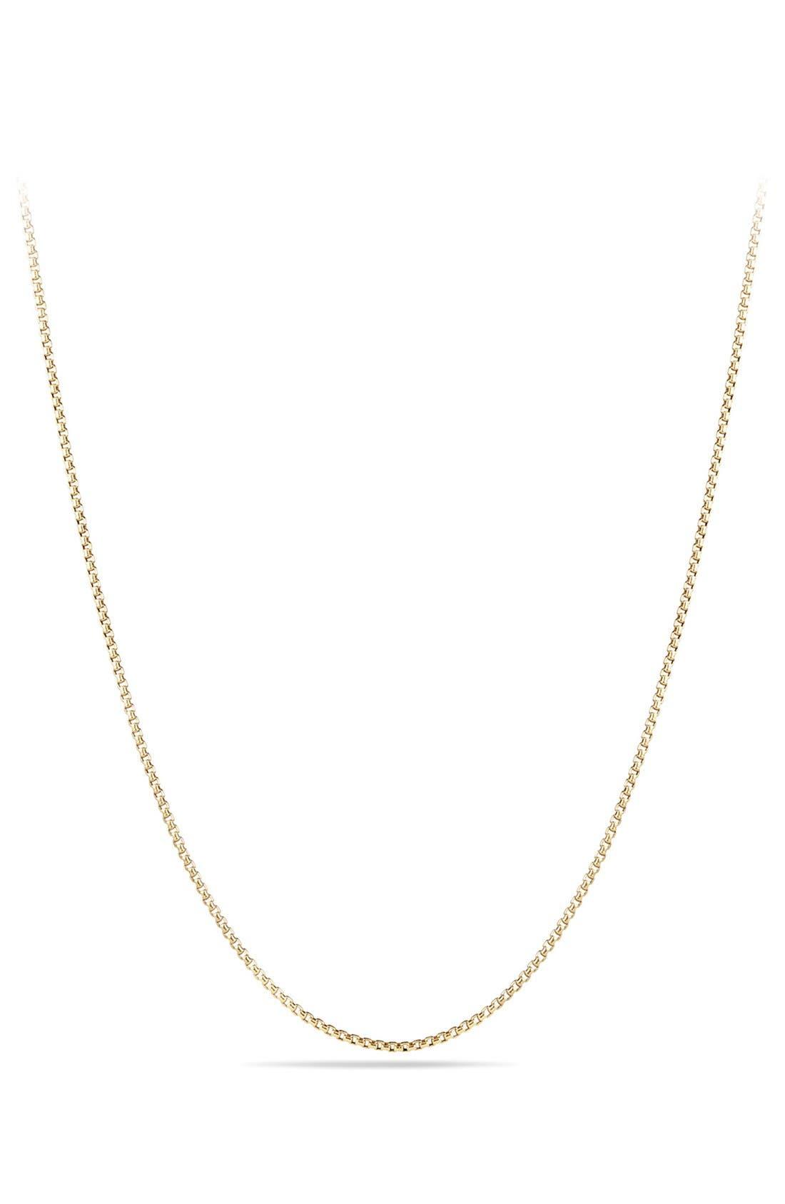 Main Image - David YurmanBox Chain Necklace in 18K Gold