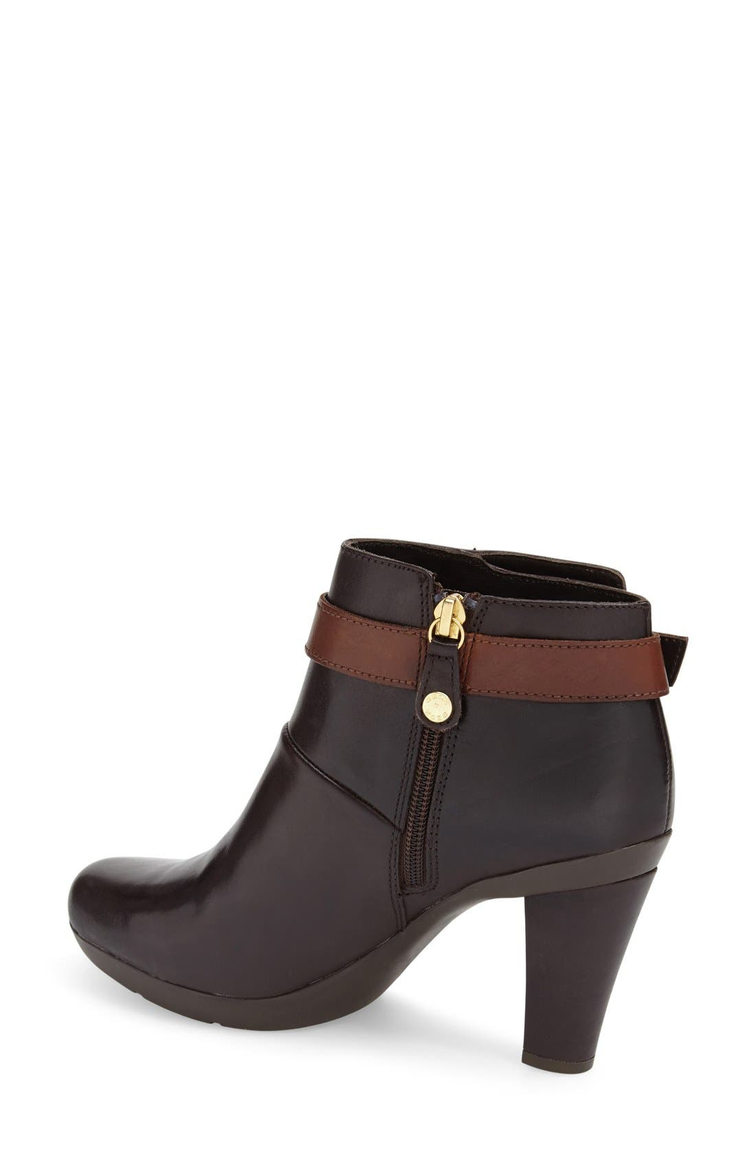 'Inspiration' Bootie,                             Alternate thumbnail 2, color,                             Dark Brown Smooth Leather