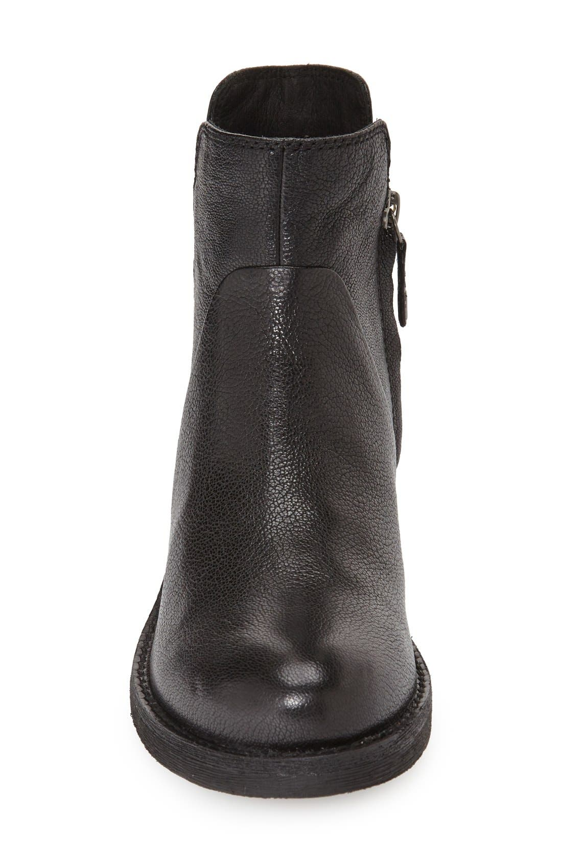 'New Virna' Chelsea Boot,                             Alternate thumbnail 3, color,                             Black Smooth Leather