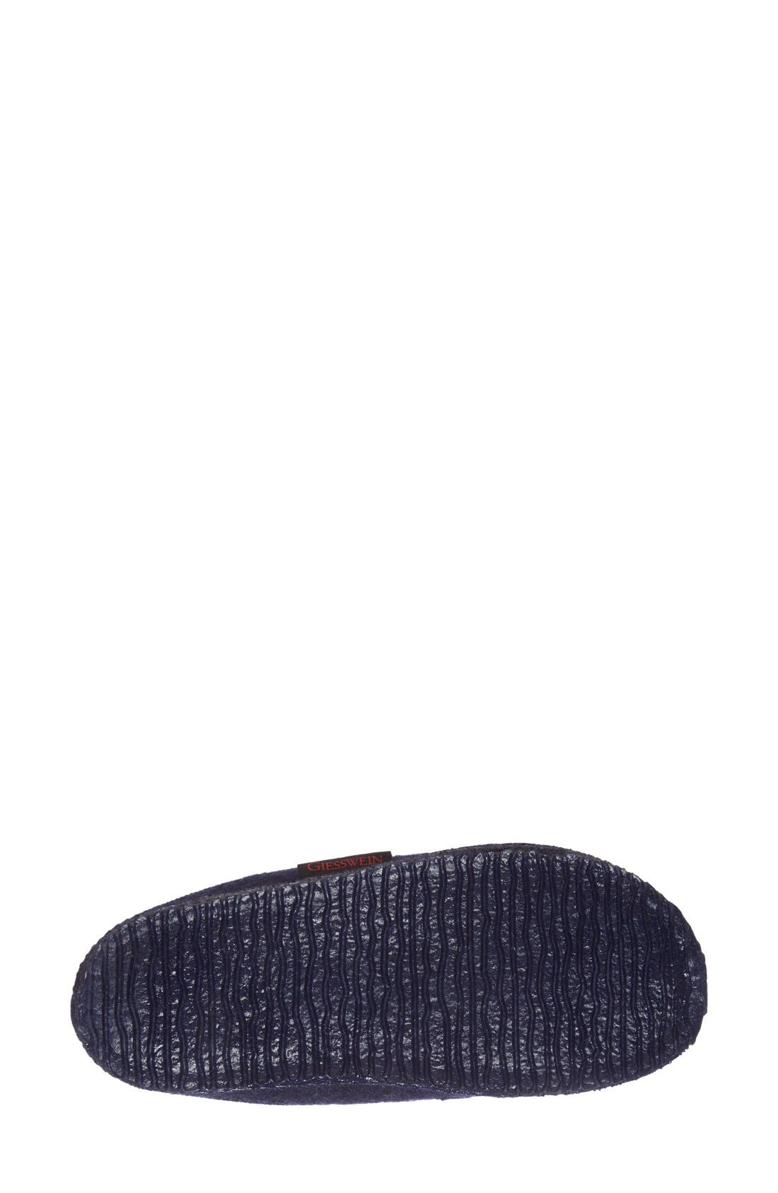 'Mado' Wool Slipper,                             Alternate thumbnail 4, color,                             Navy Wool