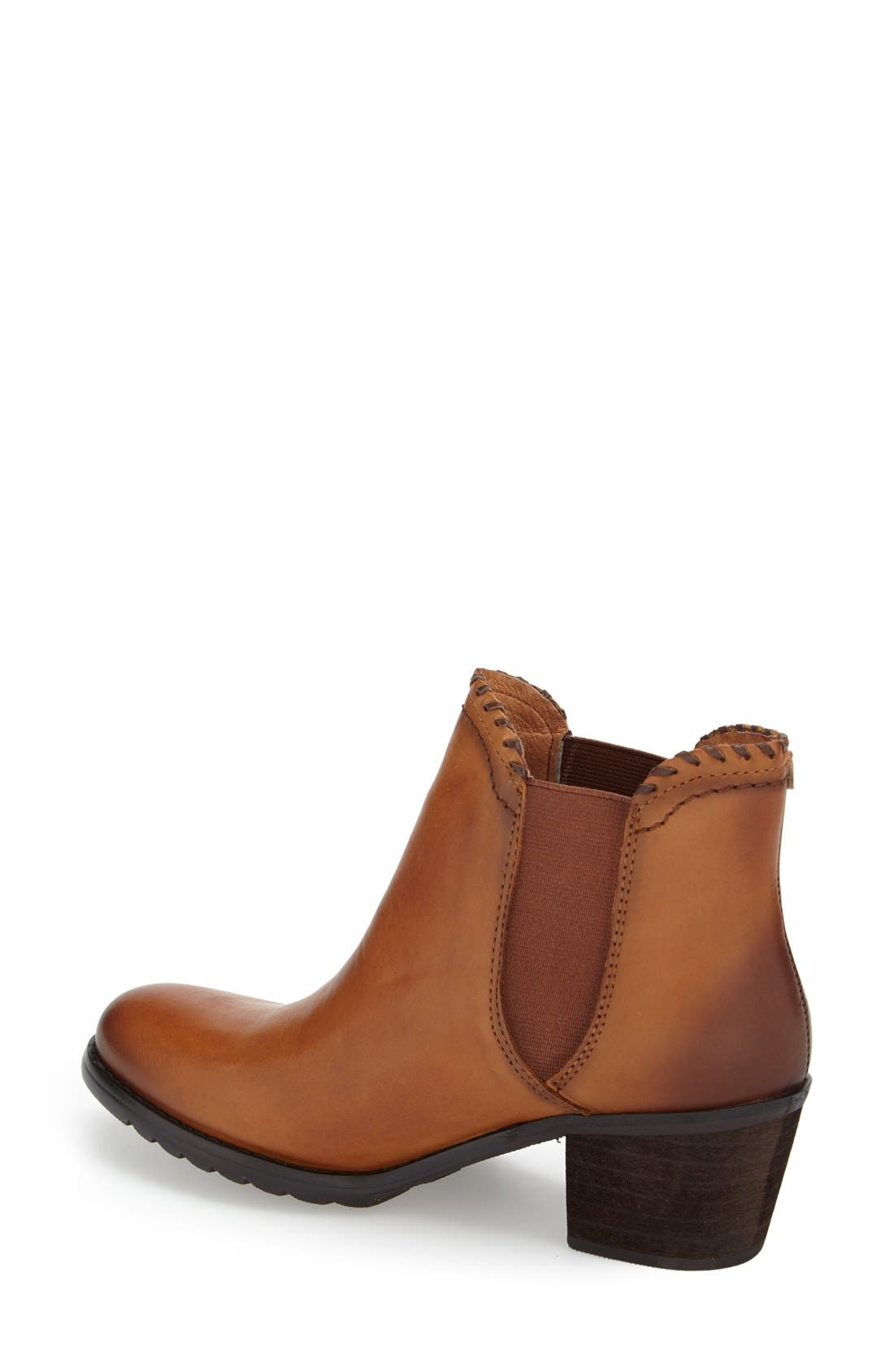 'Andorra' Water Resistant Bootie,                             Alternate thumbnail 2, color,                             Brandy Leather