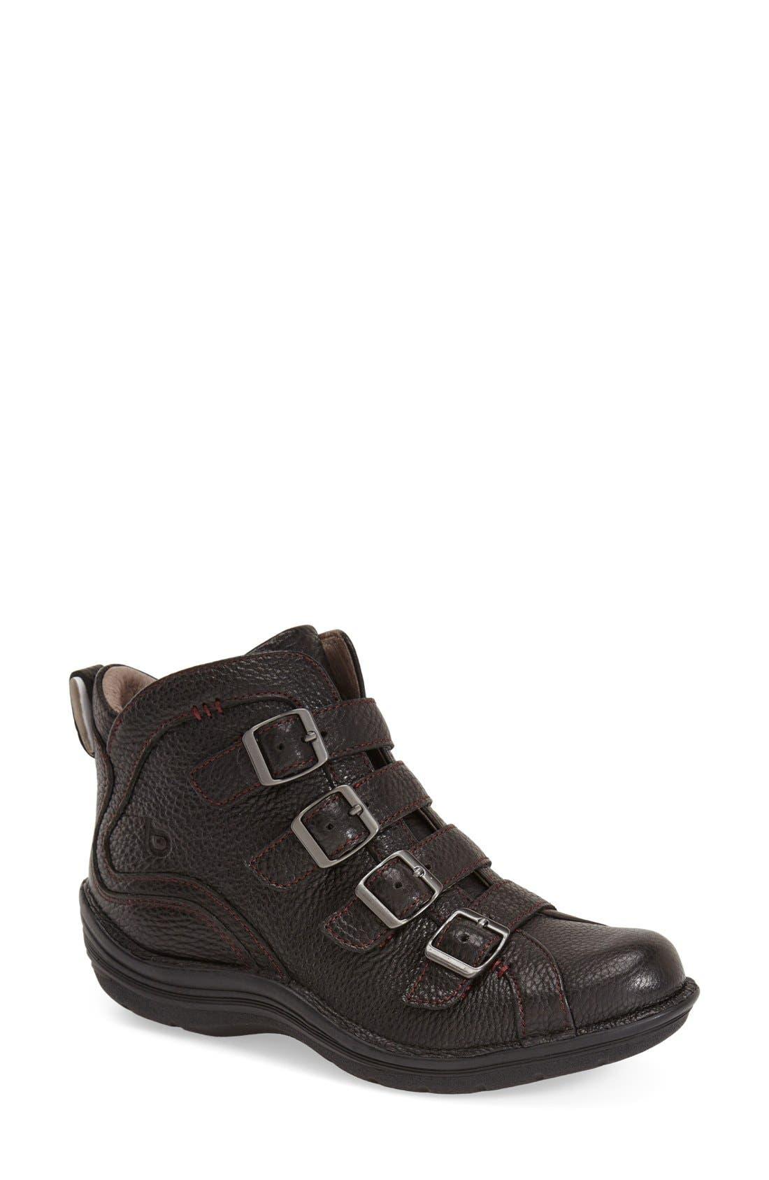 'Orion' Bootie,                         Main,                         color, Black Leather