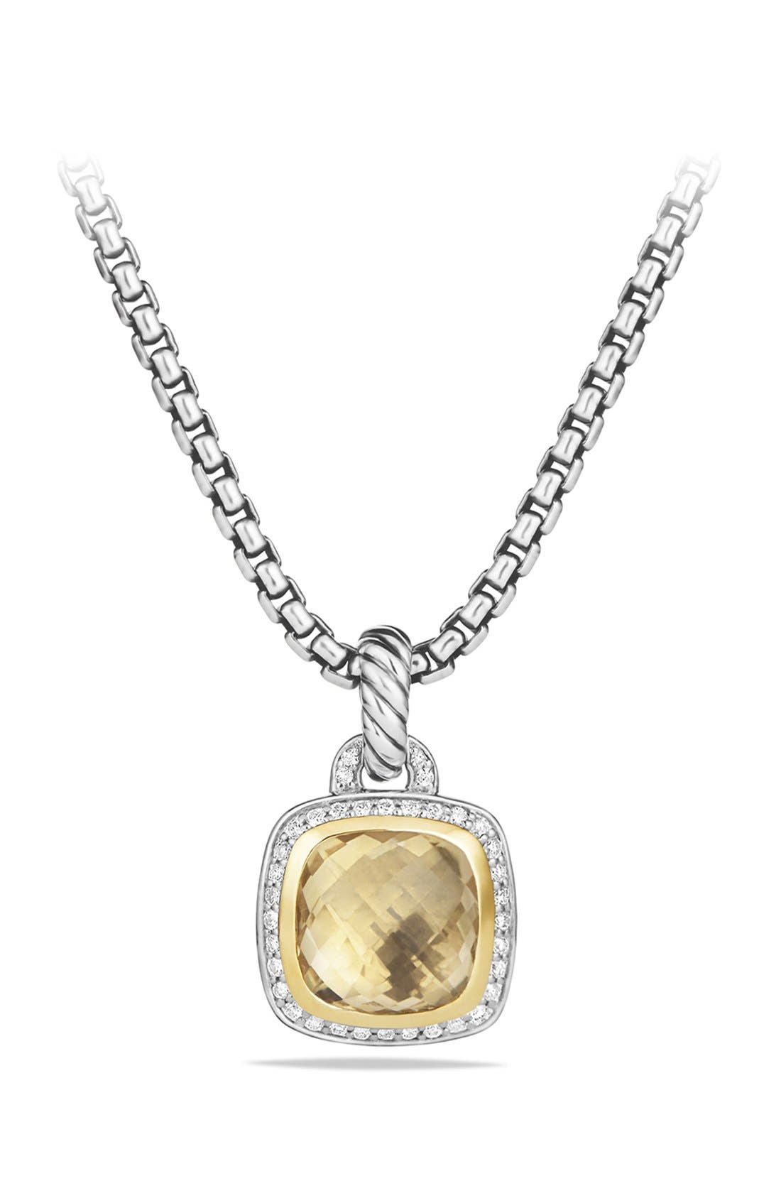 'Albion' Pendant with Diamonds and 18K Gold,                             Main thumbnail 1, color,                             Champagne Citrine