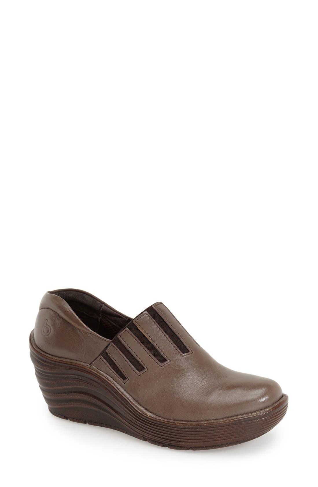 'Coast' Clog,                             Main thumbnail 1, color,                             Taupe Grey Leather