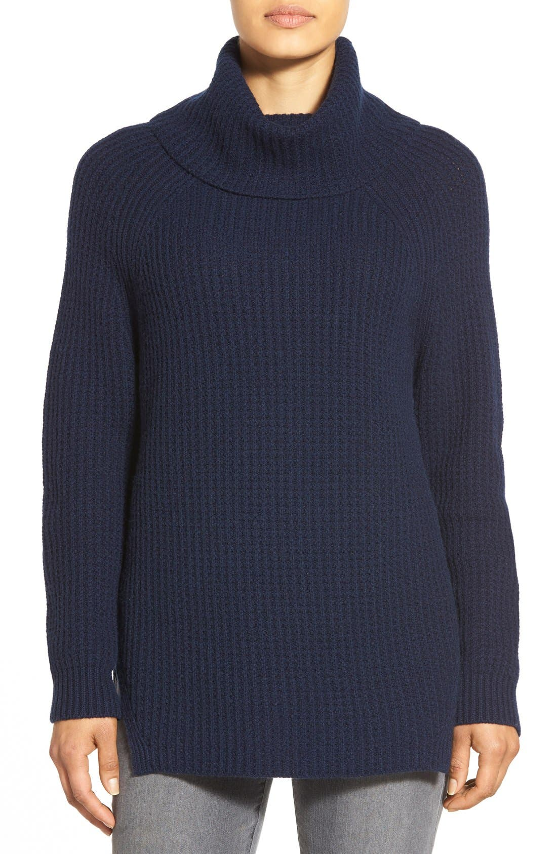 Alternate Image 1 Selected - Nordstrom Collection Wool & Cashmere Turtleneck Sweater