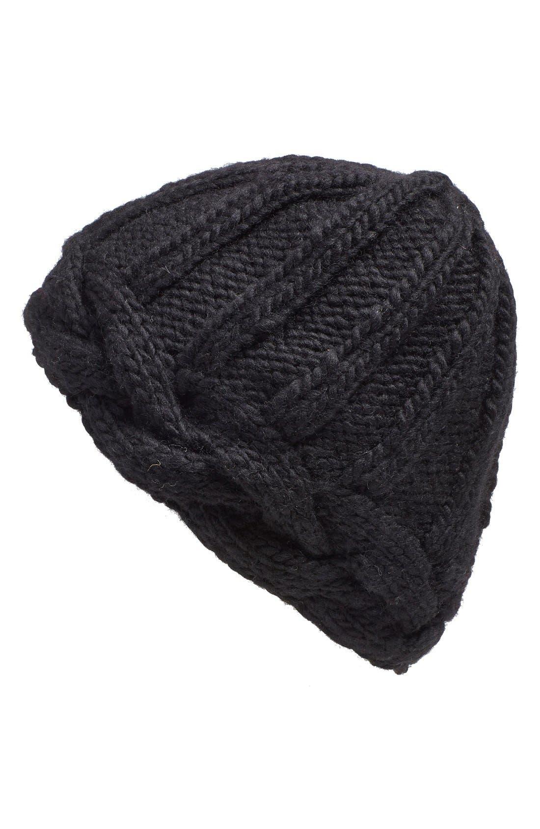 Main Image - Nirvanna Designs Braided Edge Knit Beanie