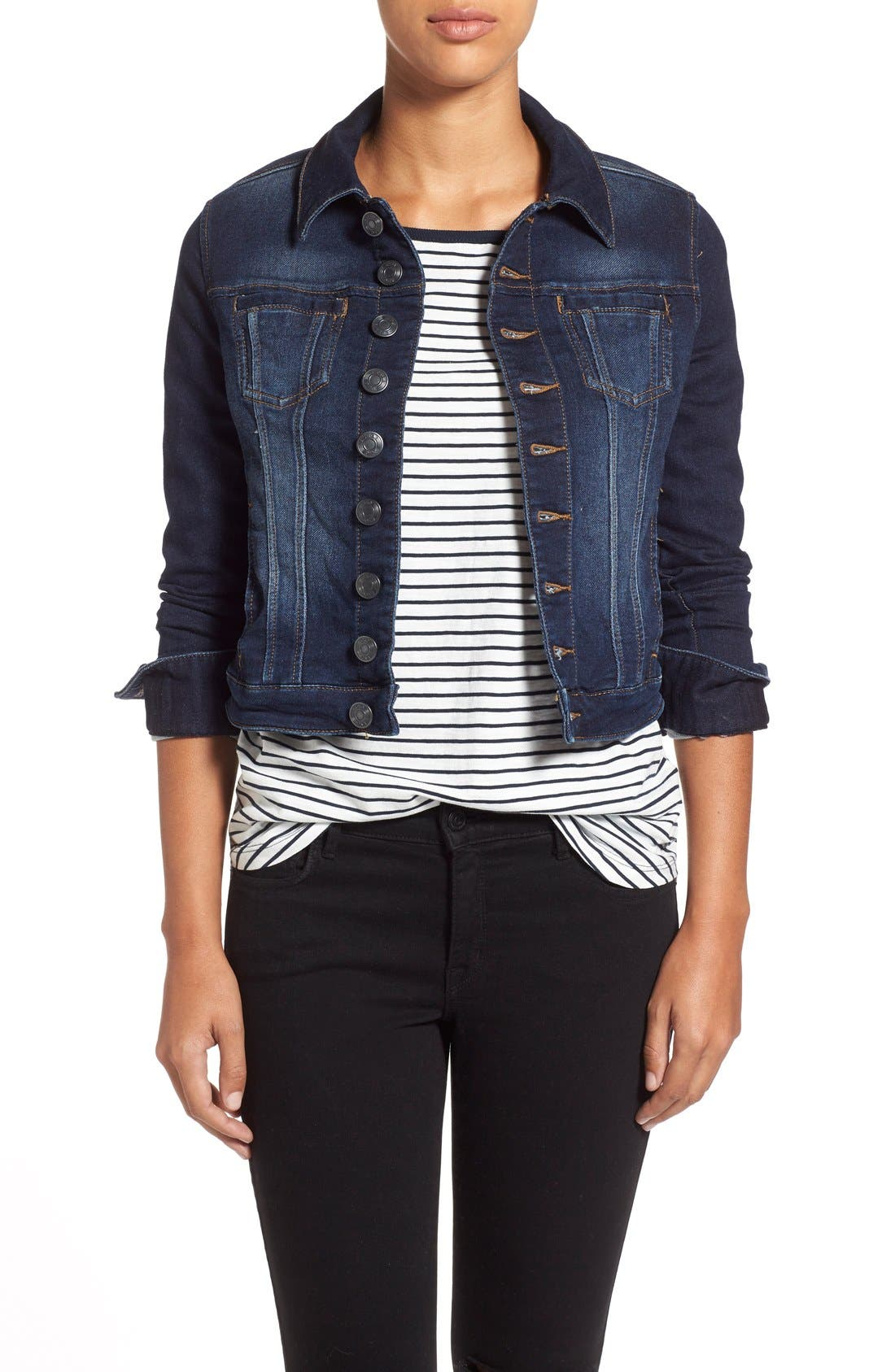 Alternate Image 1 Selected - Jag Jeans 'Savannah' Knit Denim Jacket