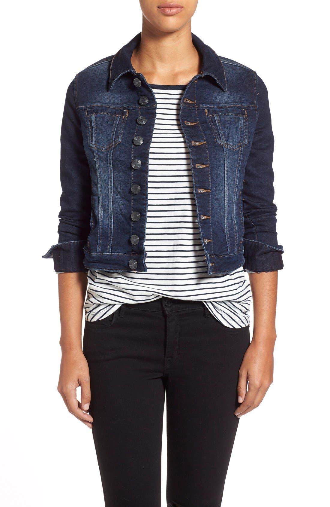 Main Image - Jag Jeans 'Savannah' Knit Denim Jacket