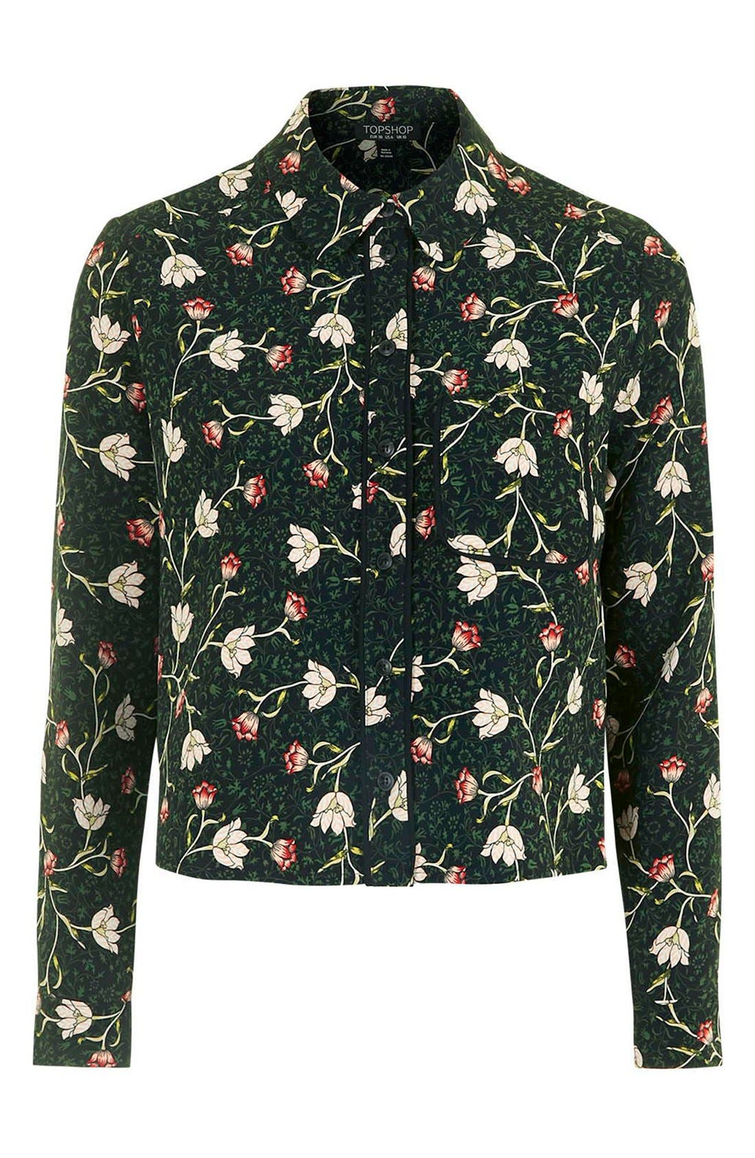Alternate Image 4  - Topshop Floral Print Boxy Shirt