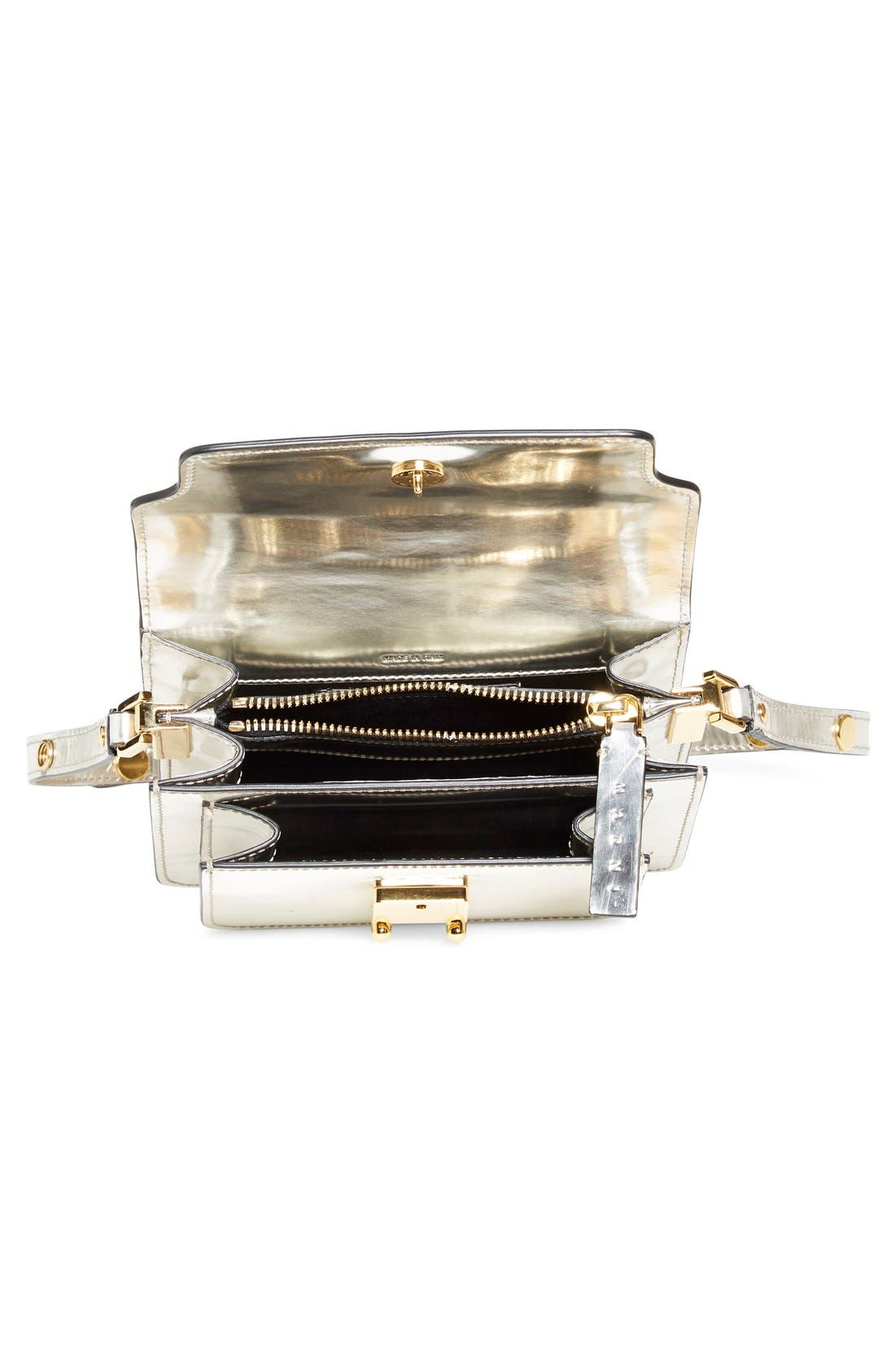 Alternate Image 4  - Marni 'Mini Trunk' Metallic Leather Shoulder Bag