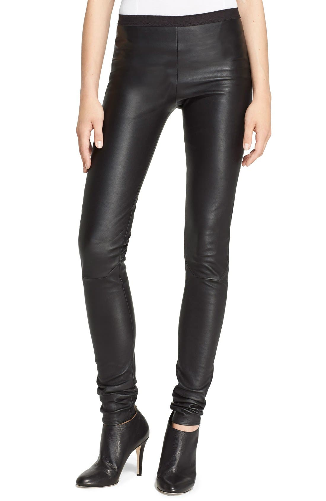 Alternate Image 1 Selected - Rick Owens Stretch Leather Leggings