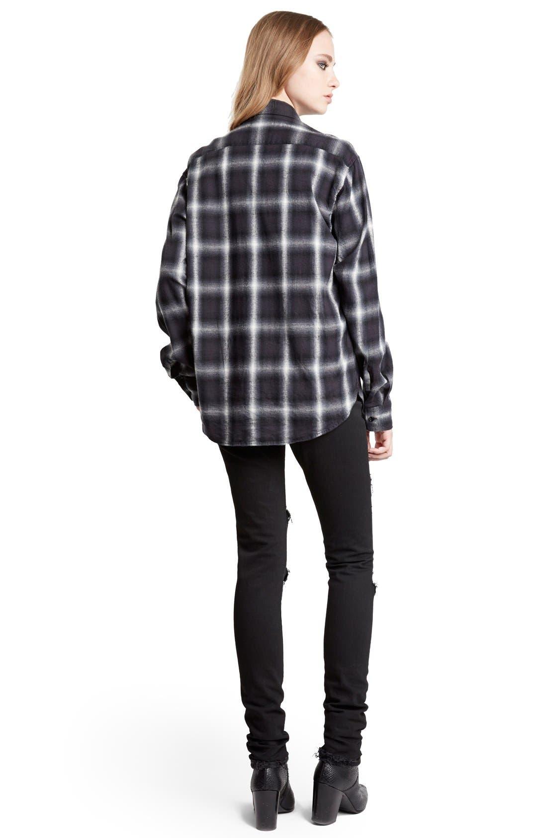 Alternate Image 2  - Saint Laurent Oversize Check Flannel Shirt