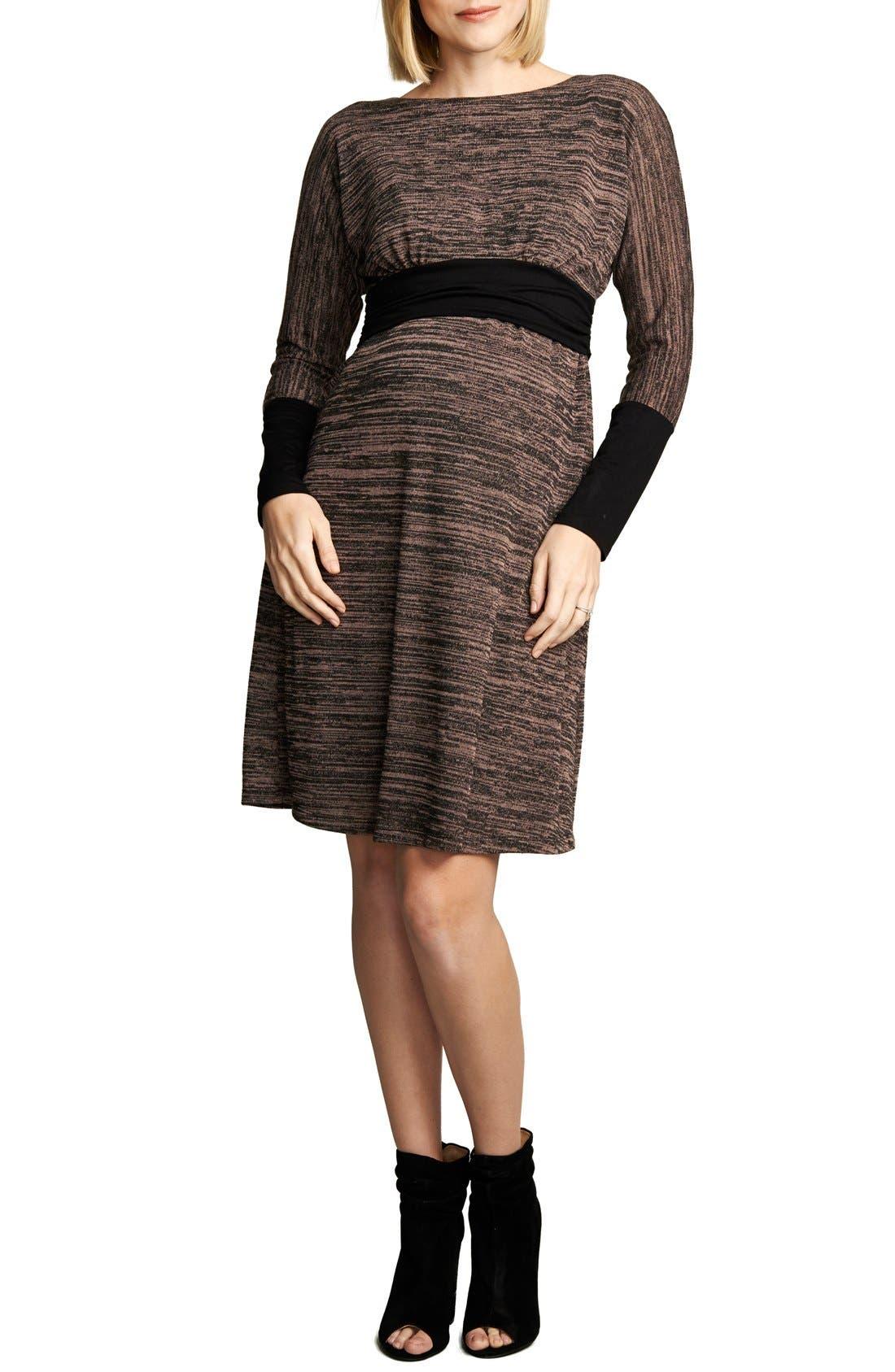 Empire WaistNursing Dress,                         Main,                         color, Blush Space Dye