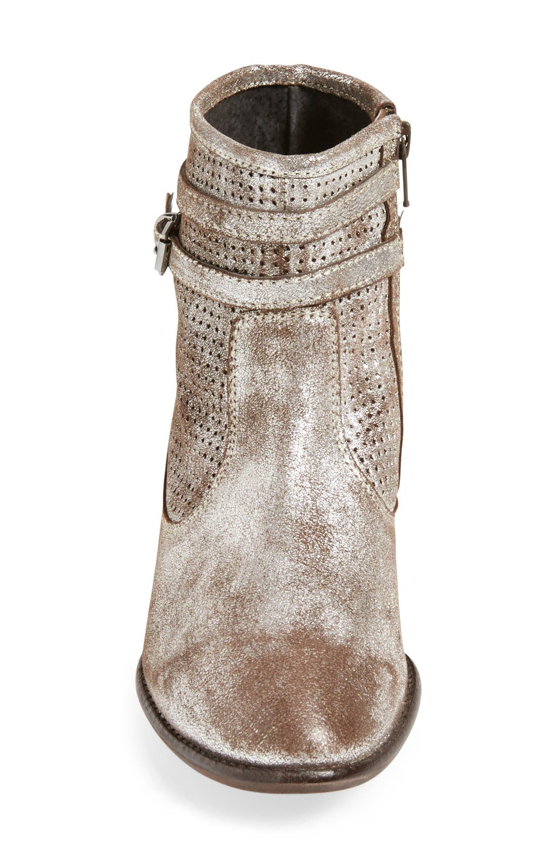 'Sanctuary' Suede Bootie,                             Alternate thumbnail 3, color,                             Pewter Suede