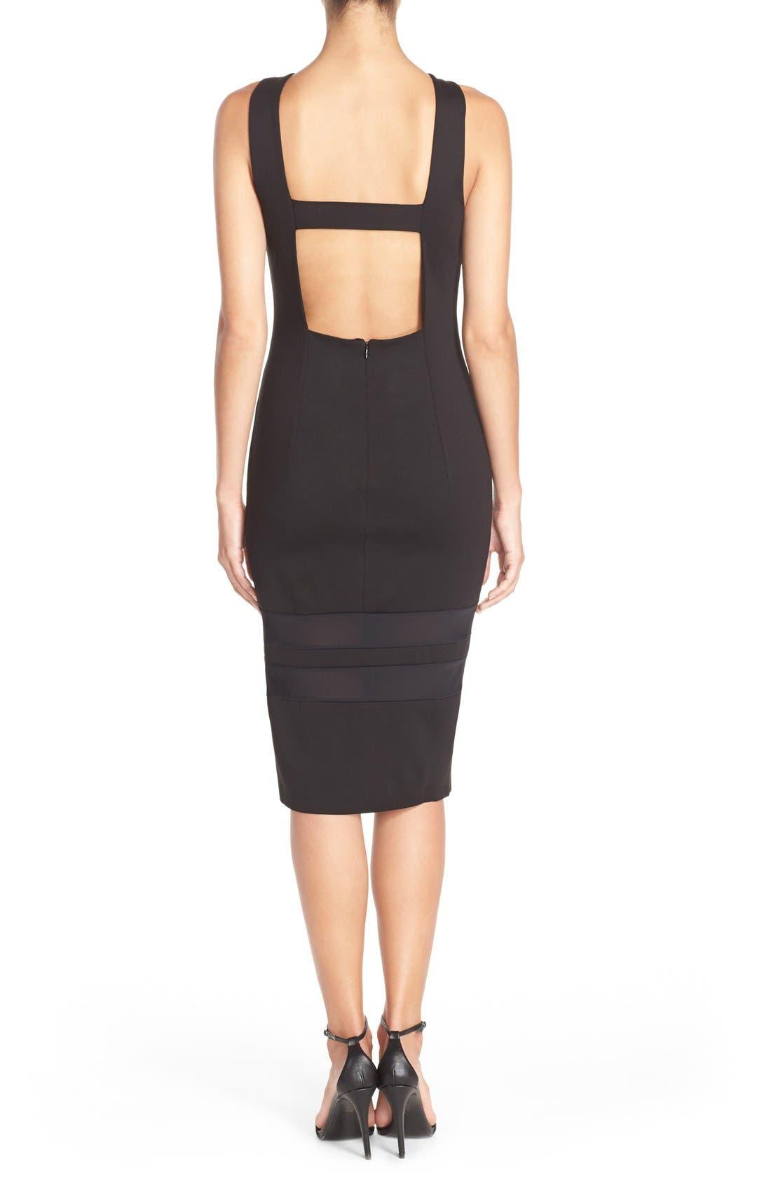 Alternate Image 2  - Charlie Jade Mesh Inset Jersey Body-Con Dress