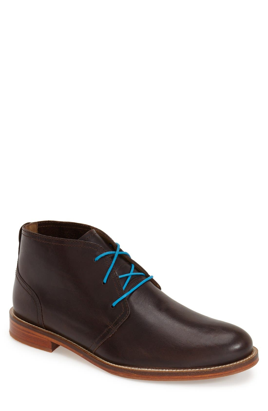 'Monarch Plus' Chukka Boot,                             Main thumbnail 1, color,                             Dark Brown Leather