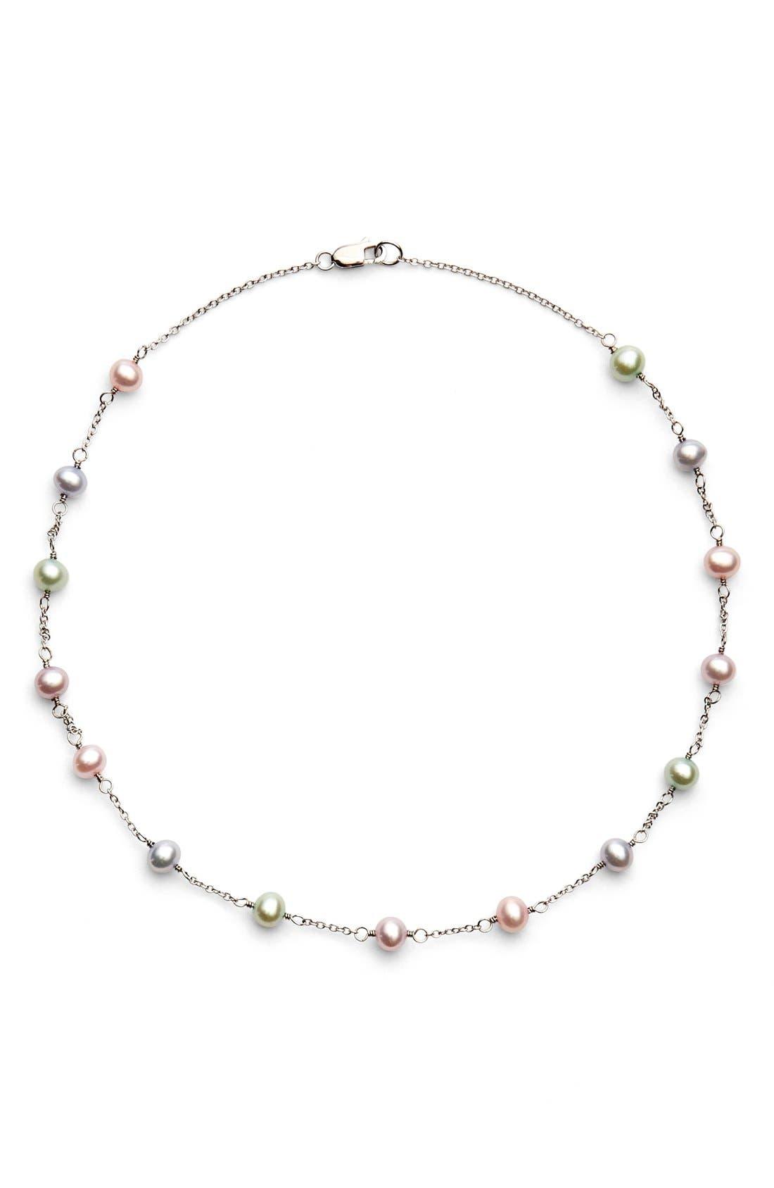 Alternate Image 1 Selected - HONORAFreshwater Pearl Necklace (Girls)