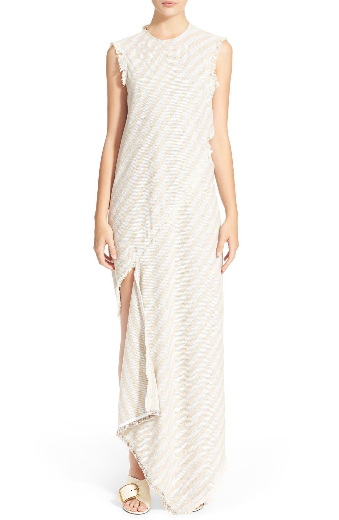 'Cosby' Stripe Sleeveless Dress,                             Alternate thumbnail 7, color,                             Natural Stripe