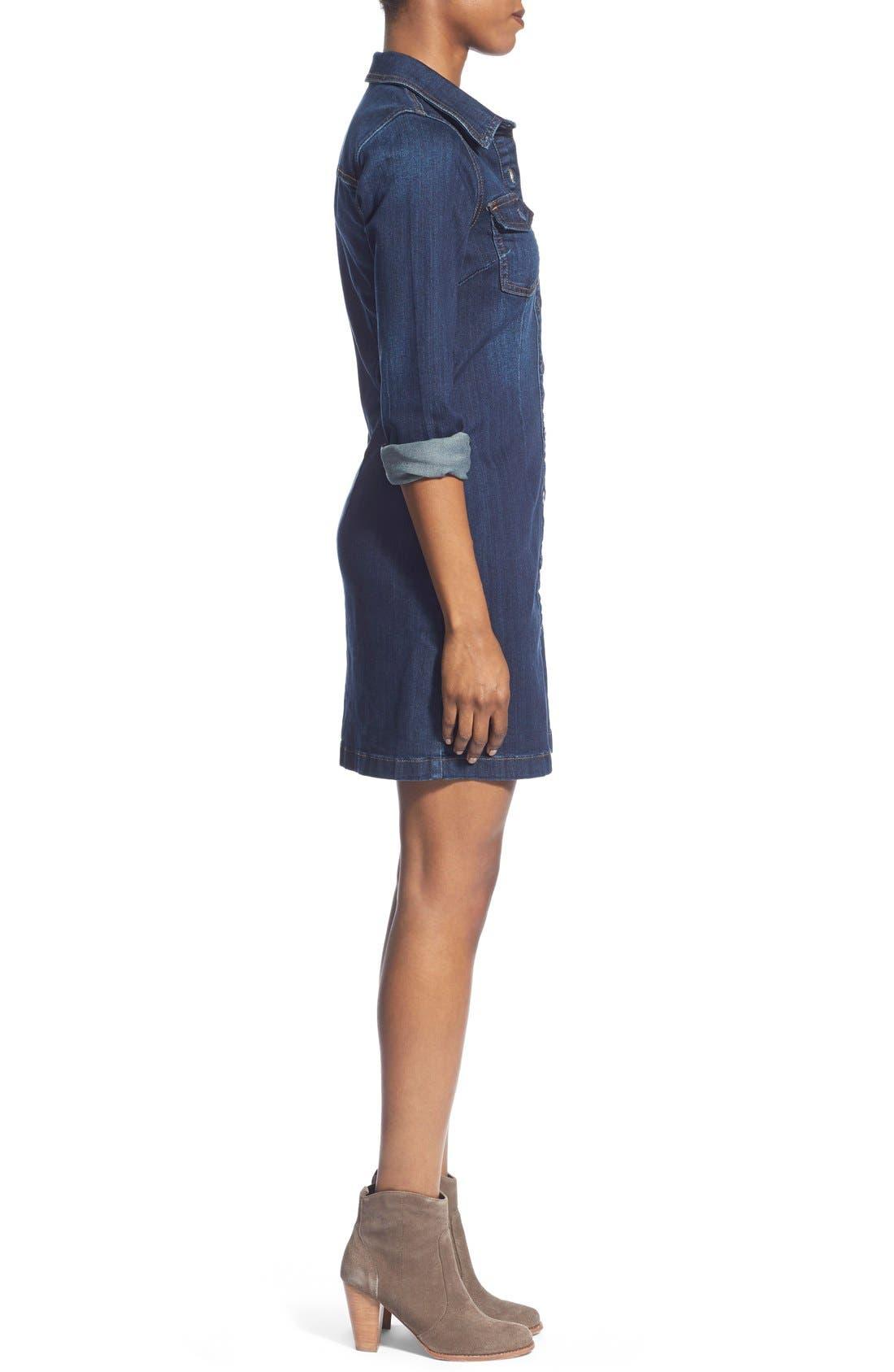 Alternate Image 3  - KUT from the Kloth 'Blake' Denim Shirt Dress