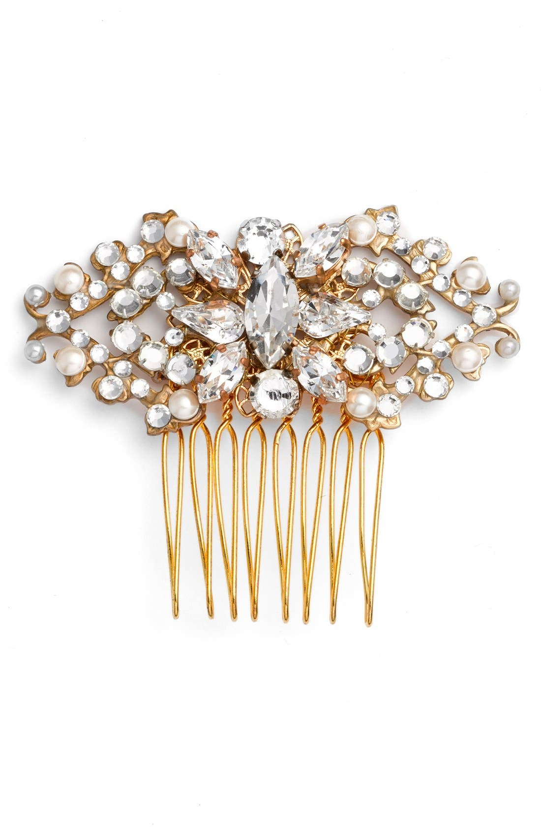Main Image - Halo & Co 'Edith' Crystal Hair Comb