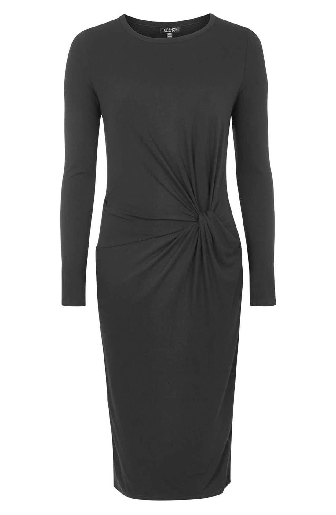 Alternate Image 3  - Topshop Knot Front Dress (Regular & Petite)