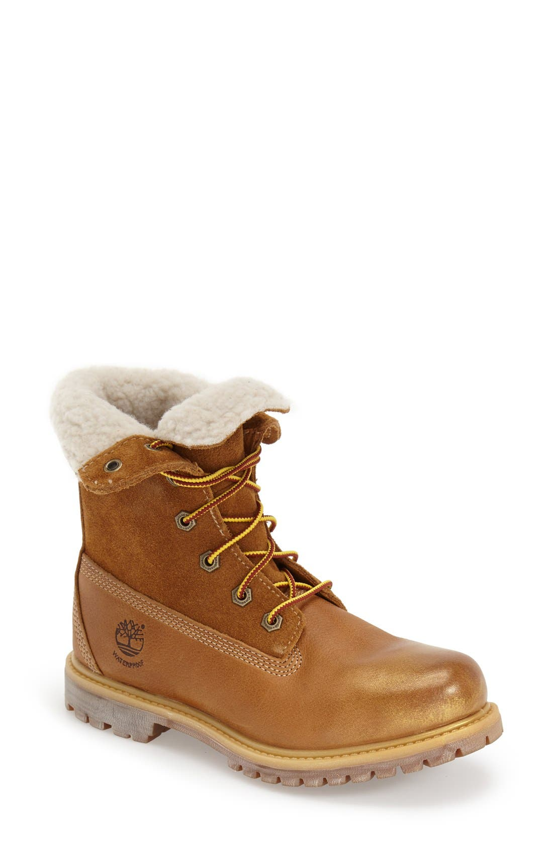 Alternate Image 1 Selected - Timberland Waterproof Foldover Bootie (Women)