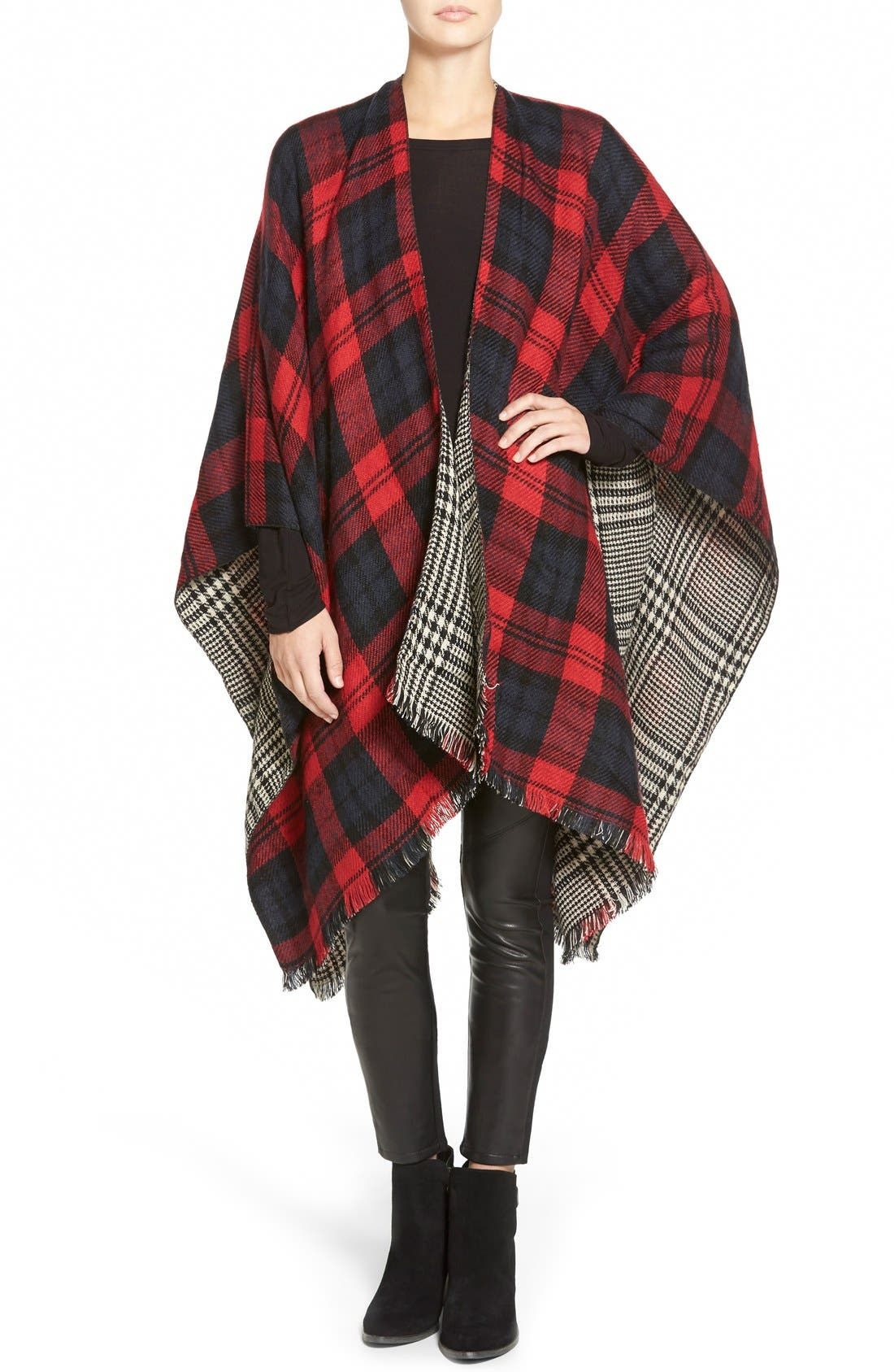 Alternate Image 1 Selected - Modena 'Double Plaid' Reversible Cape