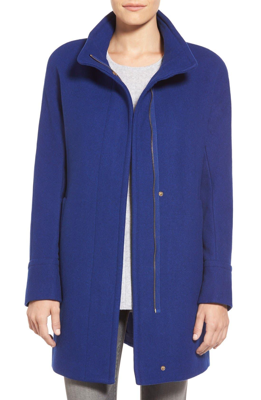 Alternate Image 1 Selected - Ellen Tracy Wool Blend Stadium Coat (Regular & Petite)