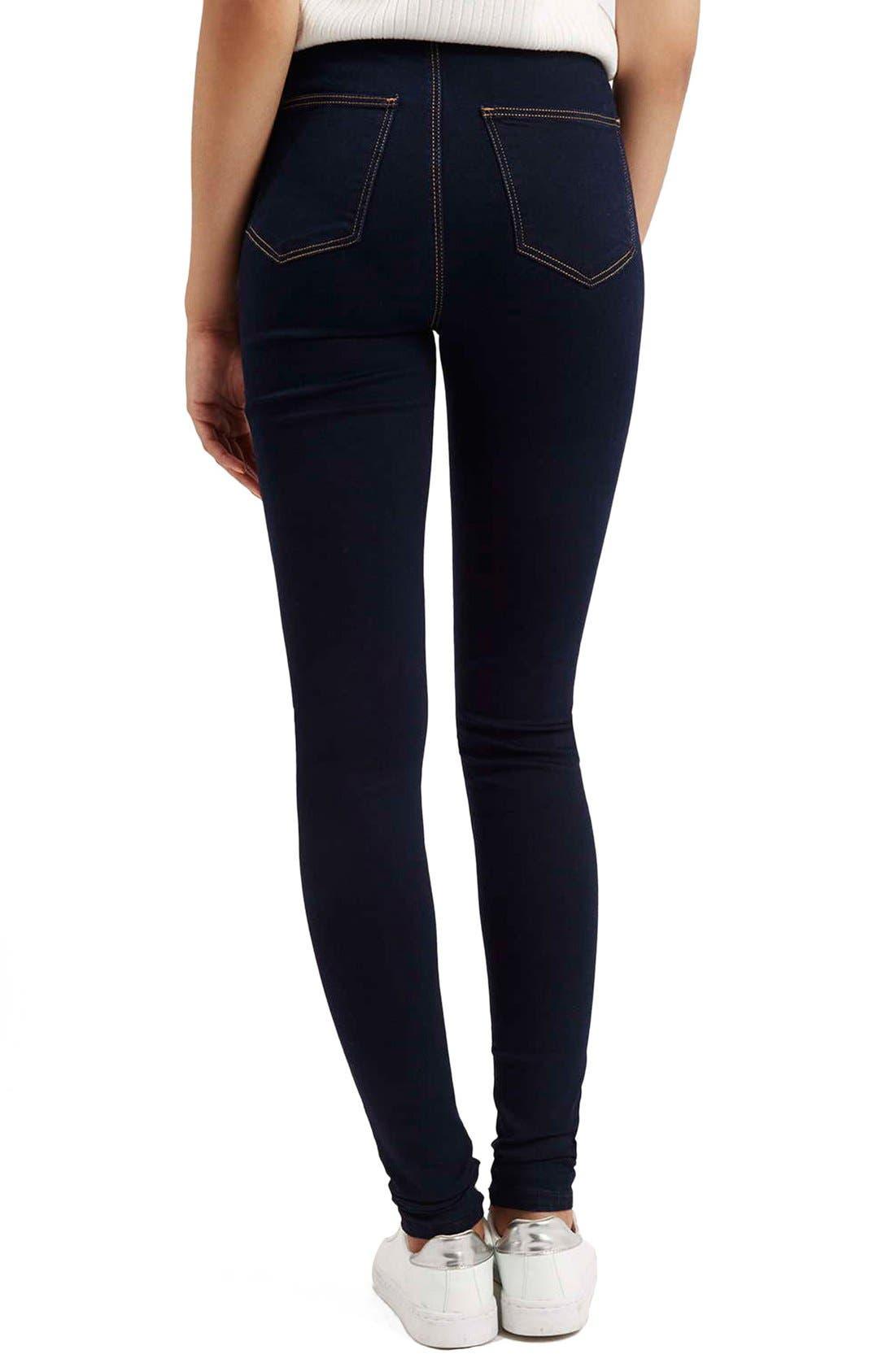 Alternate Image 3  - Topshop Moto 'Joni' Super Skinny Jeans (Mid Denim) (Tall)