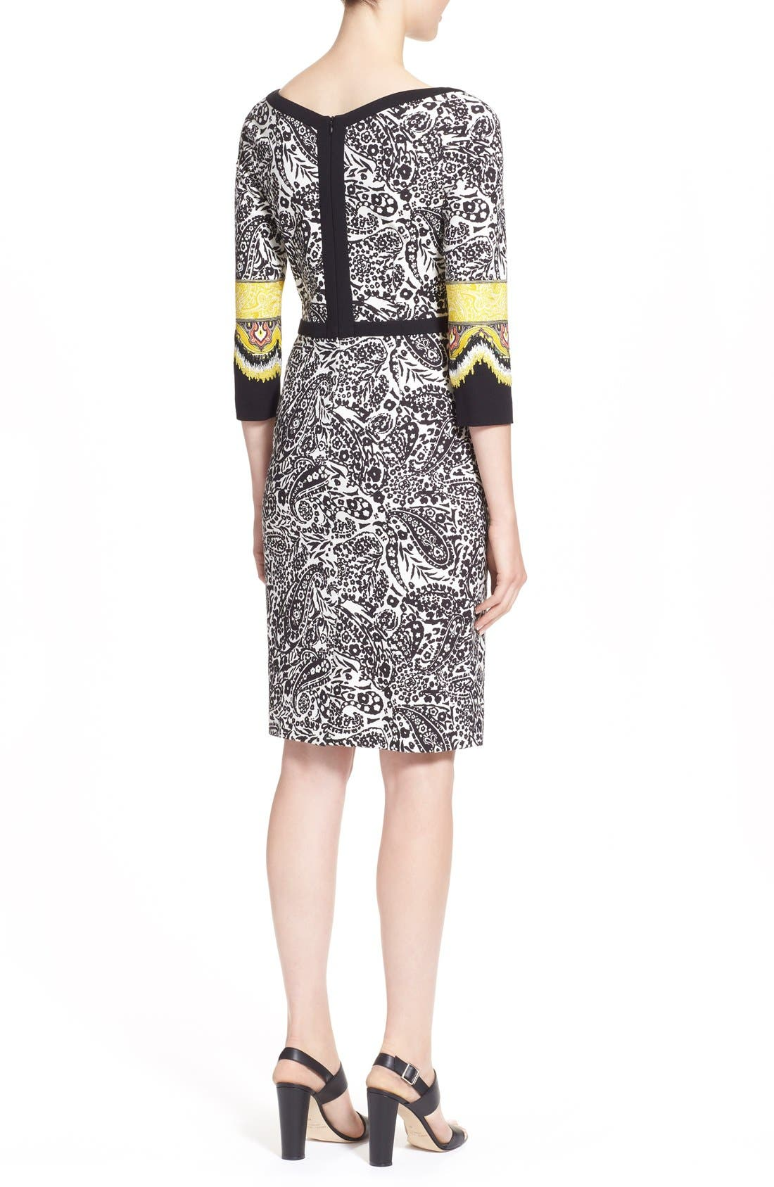 Alternate Image 2  - Etro Paisley Print Stretch Jersey Dress