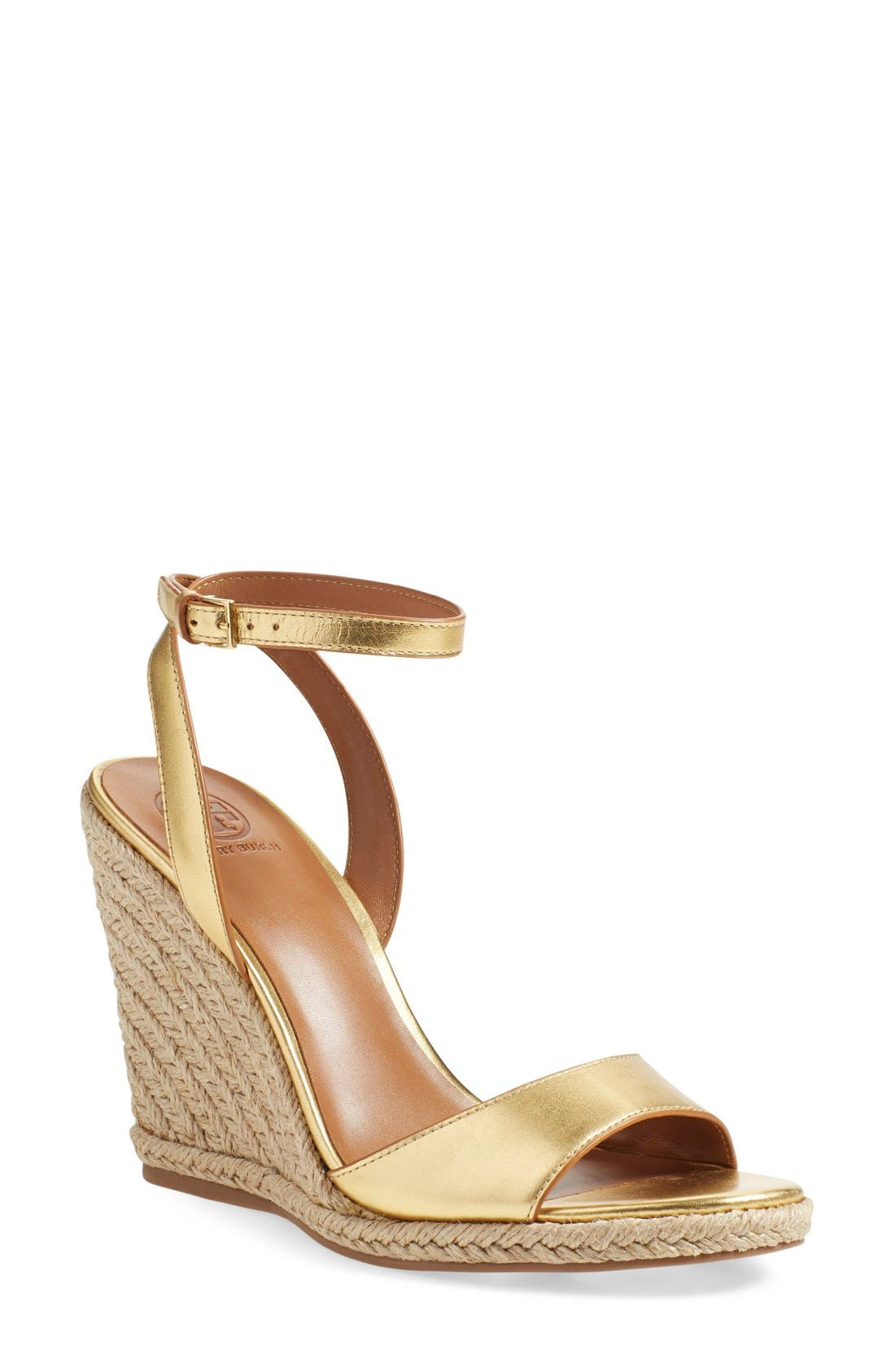 Wedge Sandal,                         Main,                         color, Gold