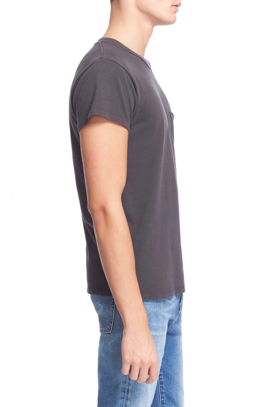 Levi's Vintage Clothing '1950s' Pocket T-Shirt,                             Alternate thumbnail 3, color,                             Black