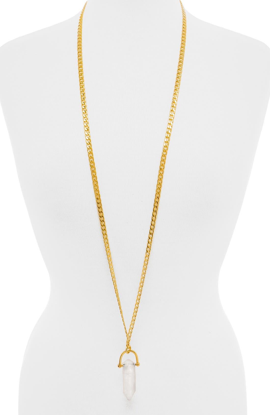 Alternate Image 3  - BaubleBar x Olivia Palermo Quartz Pendant Necklace