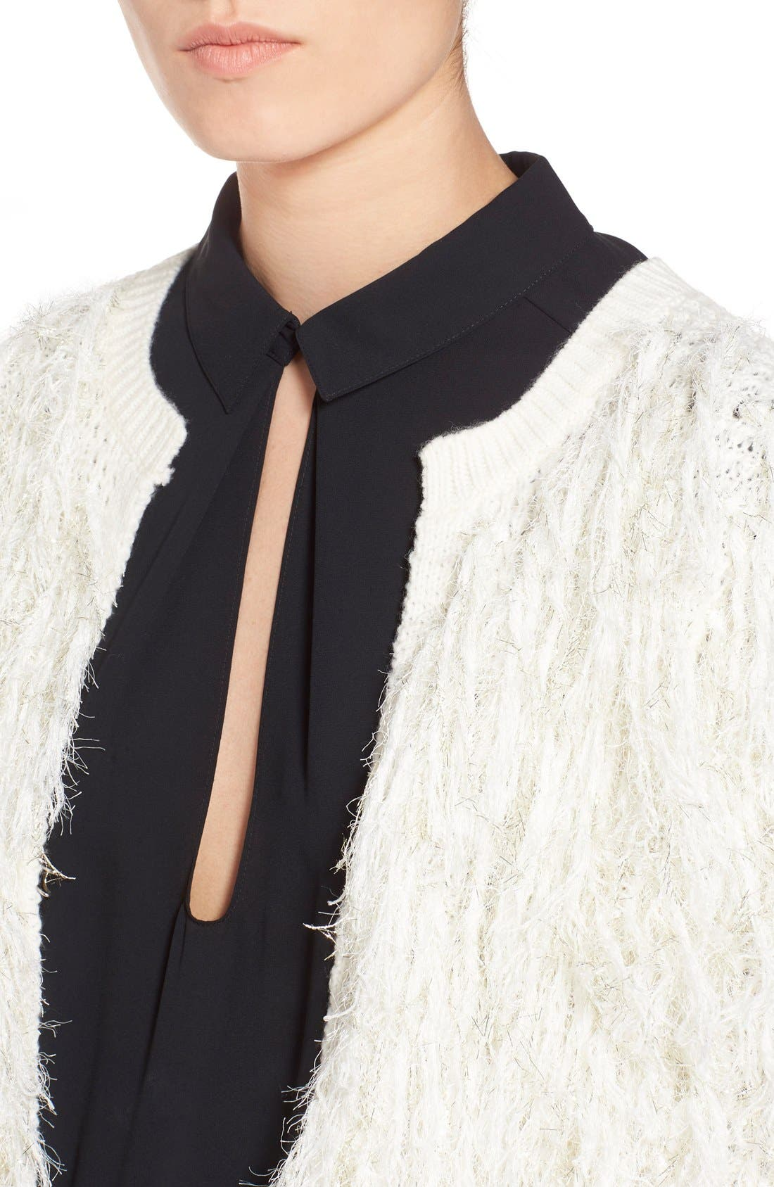 Alternate Image 4  - Leith Shaggy Open Front Cardigan