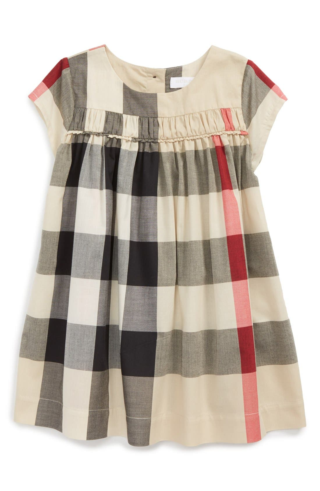 Burberry 'Ariadne' Check Woven Dress (Baby Girls)