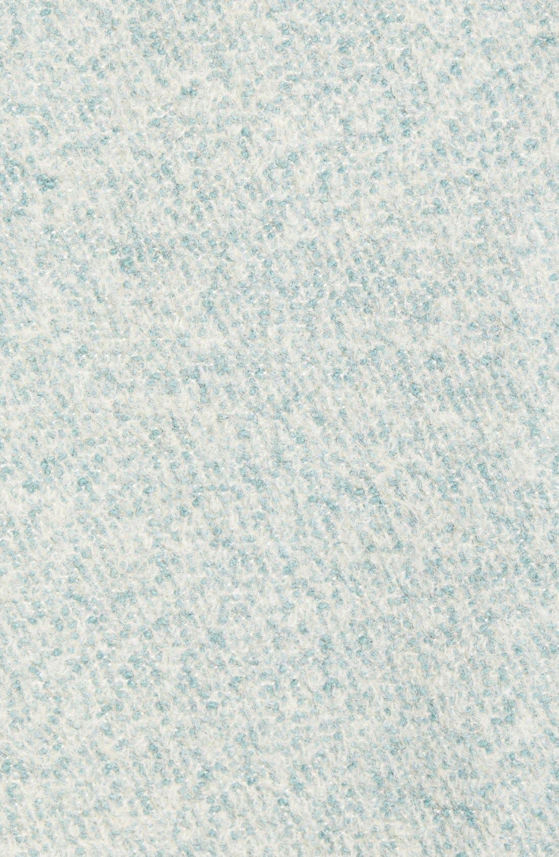 Zip Front Stand Collar Bouclé Coat,                             Alternate thumbnail 6, color,                             Mint