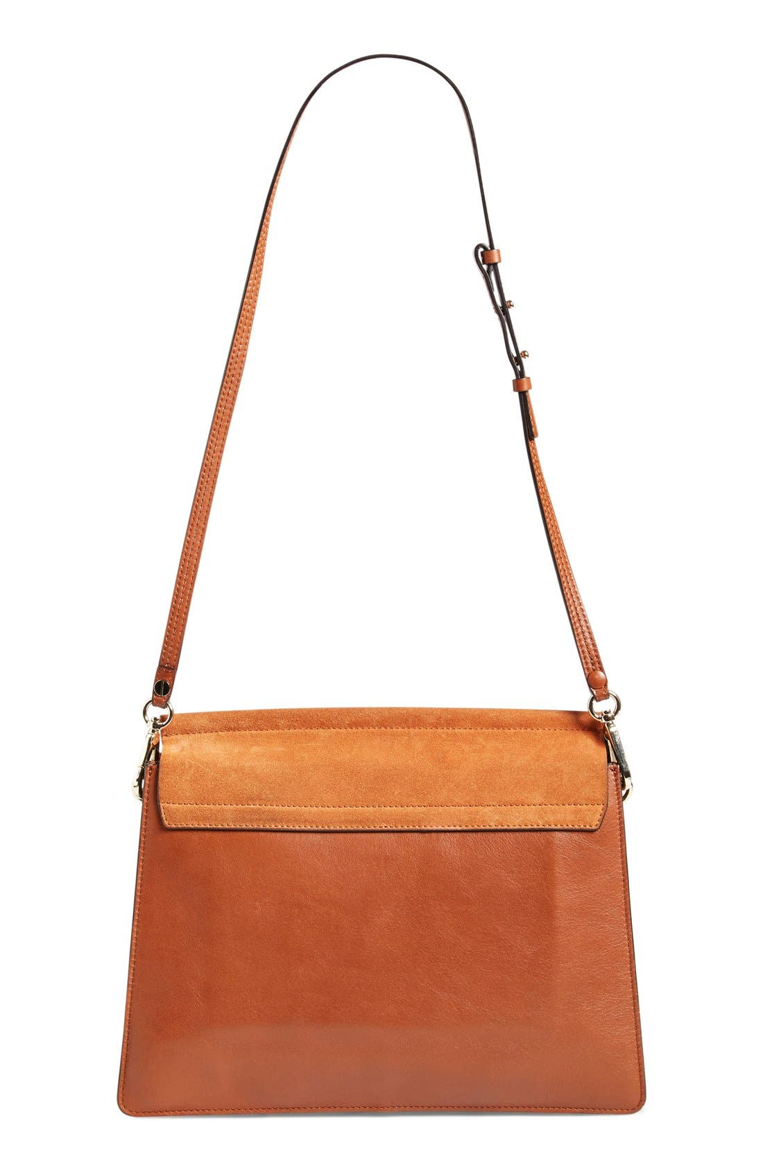 'Faye' Leather & Suede Shoulder Bag,                             Alternate thumbnail 2, color,                             Classic Tobacco